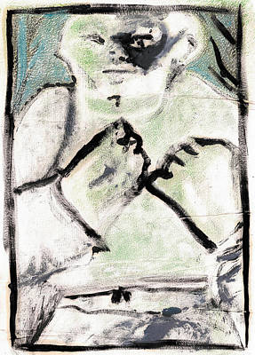 Painting - Bare Knuckle Boxer 4 by Artist Dot