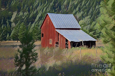 Painting - Barn A18227 by Ray Shrewsberry