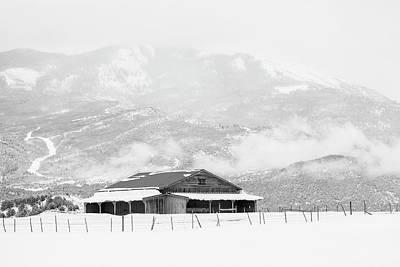 Photograph - Barn Below Mountain by Denise Bush