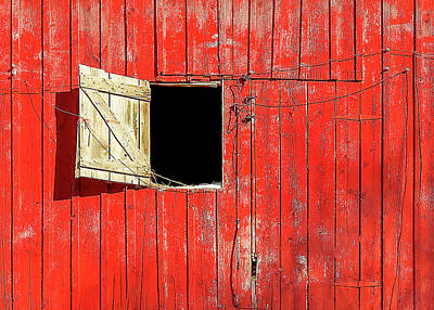 Photograph - Barn Door Open by Todd Klassy