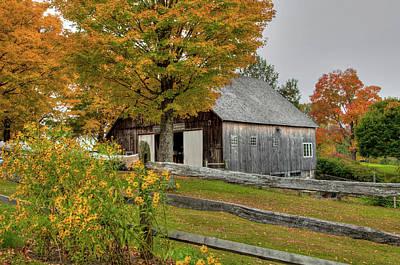 Hood Ornaments And Emblems - Barn in Autumn by Joann Vitali