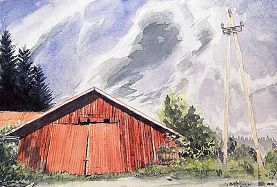 Painting - Barn In Finland by Sami Matilainen