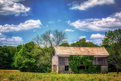 Old Rustic Building Wall Art - Photograph - Barn With Ivy by Tom Mc Nemar
