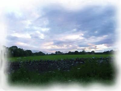 Digital Art - Barnard Castle Farmland by JLowPhotos