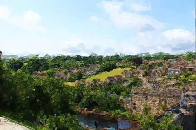 Digital Art - Barnard Castle View by JLowPhotos