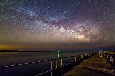 Photograph - Barnegat Light State Park Milky Way by Susan Candelario