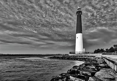 Photograph - Barnegat Lighthouse Afternoon Bw by Susan Candelario