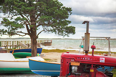 Photograph - Barnstable Yacht Club Off Season Scene by Charles Harden
