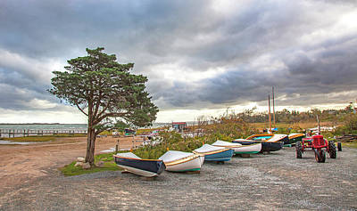 Photograph - Barnstable Yacht Club Seasons Over by Charles Harden
