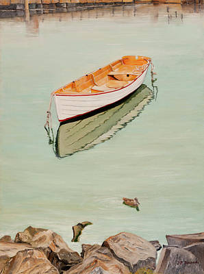 1-war Is Hell - Barque A Rockport - Oil on Canvas by Jean-Pierre Ducondi