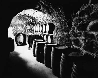 Photograph - Barrels At The Beringer Brothers Winery by Hulton Archive
