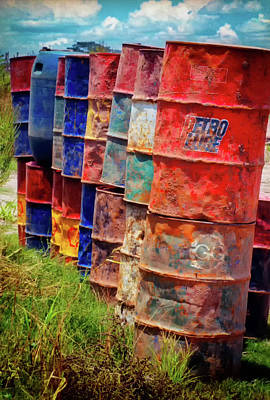Photograph - Barrels At The Harbor - Pucallpa Peru by Rick Veldman