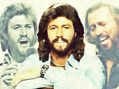 Digital Art - Barry Gibb by Mark Baranowski