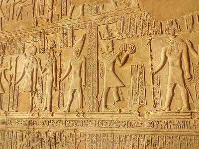 Bas Relief Figures And Hieroglyphics On Art Print by Fred Bahurlet / Eyeem