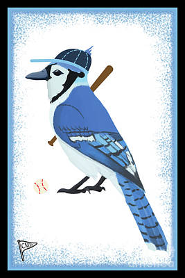 Sports Royalty-Free and Rights-Managed Images - Baseball Blue Jay by College Mascot Designs