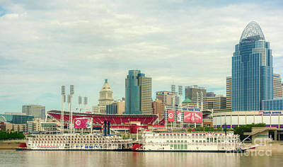 Photograph - Baseball And Boats In Cincinnati # 2 by Mel Steinhauer