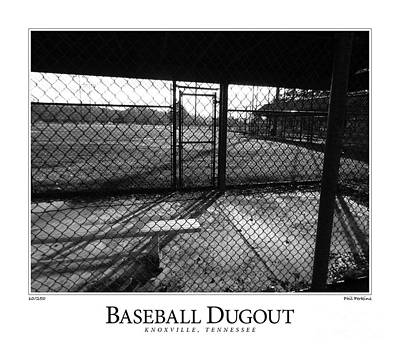 Photograph - Baseball Dugout by Phil Perkins
