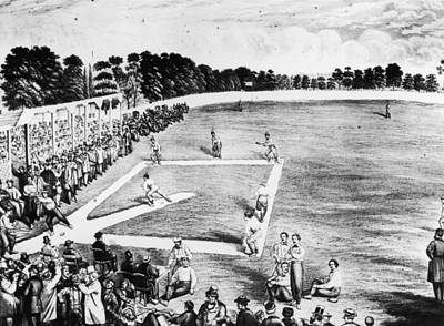 Baseball Game Art Print by Hulton Archive