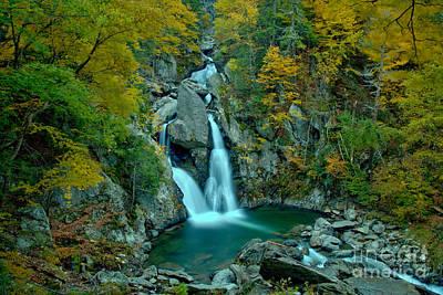 Photograph - Bash Bish Falls Fall Foliage Landscape by Adam Jewell