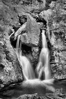 Photograph - Bash Bish Falls Into The Pool Black And White by Adam Jewell