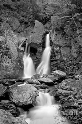 Photograph - Bash Bish Falls Stream Black And White by Adam Jewell