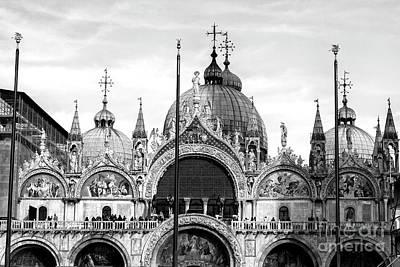 Photograph - Basilica Di San Marco West Facade Venice by John Rizzuto