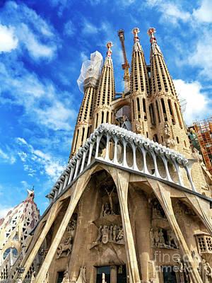 Photograph - Basilica I Temple Expiatori De La Sagrada Familia In Barcelona by John Rizzuto