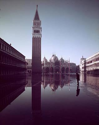 Photograph - Basilica Of San Marco & Campanile On Pia by Dmitri Kessel