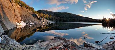 Photograph - Basin Lake Sunrise Panoramic by Leland D Howard