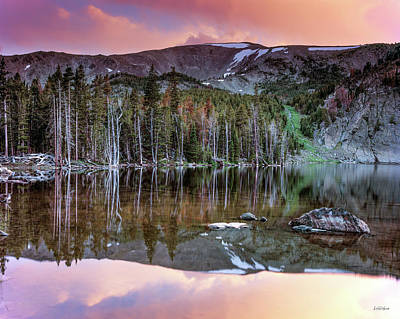 Basin Lake Sunset Art Print by Leland D Howard