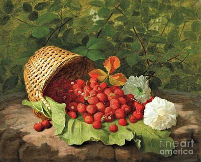 Thomas Kinkade - Basket of strawberries by Roberto Prusso