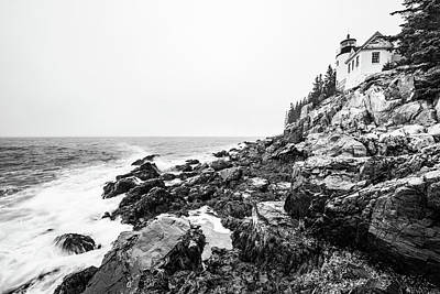 Photograph - Bass Harbor Head Lighthouse In Winter by Stefan Mazzola