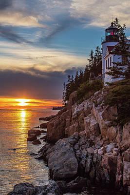 Photograph - Bass Harbor Head Lighthouse Sunset by Stefan Mazzola