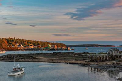 Art Print featuring the photograph Bass Harbor Sunset by Rick Hartigan