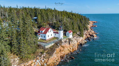 Photograph - Bass Head Harbor Light by Michael Hughes