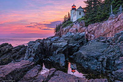 Harbor Scene Wall Art - Photograph - Bass Head Lighthouse - Acadia by Expressive Landscapes Nature Photography