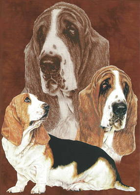 Drawing - Basset Alteration by Barbara Keith