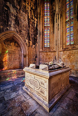 Photograph - Batalha Monastery Sarcophagus - Portugal by Stuart Litoff