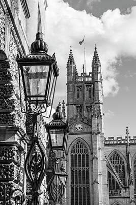 Photograph - Bath Abbey And Light Lamps  by John McGraw