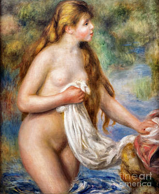 Painting - Bather With Long Hair By Renoir by Auguste Renoir