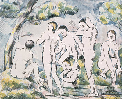 Painting - Bathers In A Landscape, 1898 by Paul Cezanne