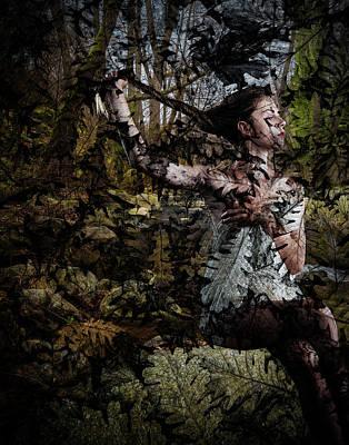 Digital Art - Bathing In The Woods by Galatia420