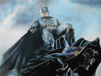 Ben Affleck Wall Art - Drawing - Batman by Joseph Christensen