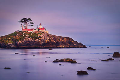 Photograph - Battery Point Lighthouse Dusk - California by Stuart Litoff