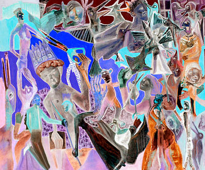 Digital Art - Battle Crowd by Artist Dot