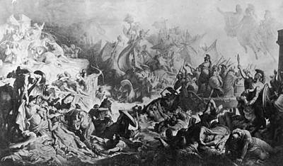 Battle Of Salamis Art Print by Hulton Archive