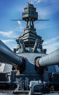 Photograph - Battleship Big Guns  by Bud Simpson