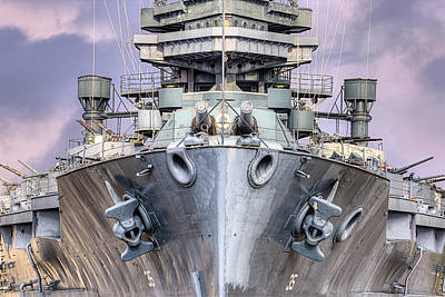 Photograph - Battleship U S S Texas by JC Findley
