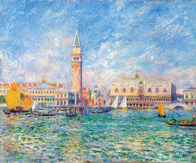 Painting - Bay Of Venice By Pierre Auguste Renoir by Fine Art Images