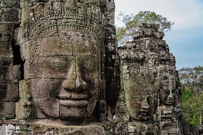 Photograph - Bayon Faces, Angkor Wat, Cambodia by Ian Robert Knight